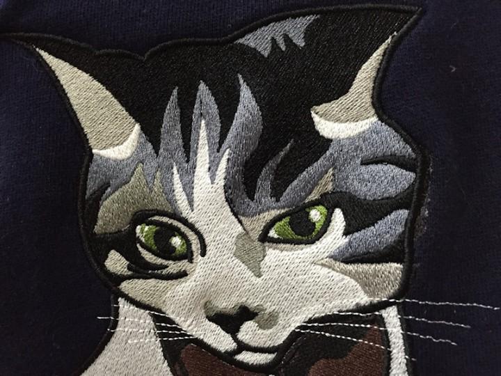 愛猫刺繍スタジャン